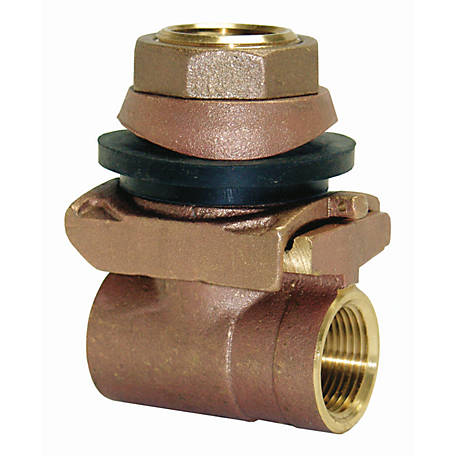 Water Source Brass Pitless Adapter, 1 in.
