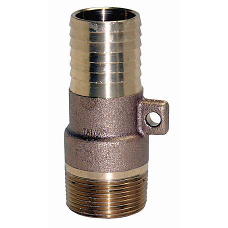 Water Source Brass Male Reducing Adapter with Rope Loop, 1-1/4 in. x 1 in.