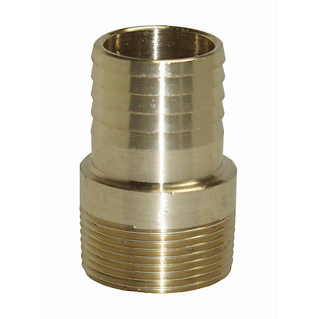 Water Source Brass Male Insert Adapter, 1 in.