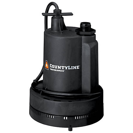 CountyLine Submersible Thermoplastic Utility Pump, 1/4 HP