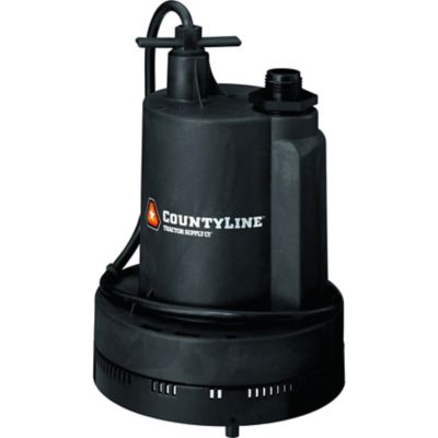 countyline submersible thermoplastic utility pump, 1/3 hp