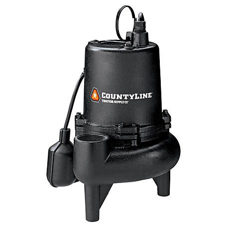 CountyLine 3/4 HP Cast Iron Sewage Pump with Tethered Switch