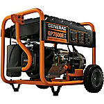 Generac GP7500E Gas Powered Electric Start Portable Generator, 7500 Running Watts