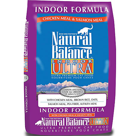 Natural Balance Indoor Ultra Chicken Meal & Salmon Meal Formula Dry Cat Food, 15 lb.