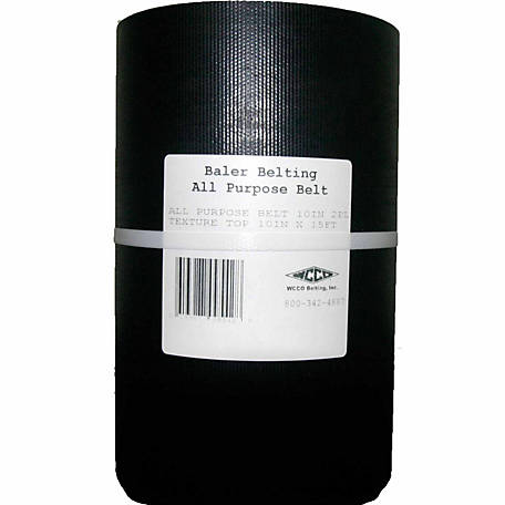 WCCO Belting Baler Belting, 2-Ply, 10 in. x 180 in.