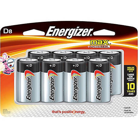 Energizer Max D, Pack of 8