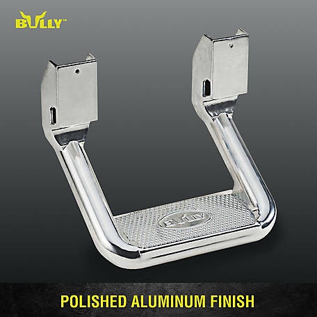 Bully AS-600 Universal Truck Polished Aluminum Single Side Step, 1 pc., Includes Mounting Brackets, AS-600S
