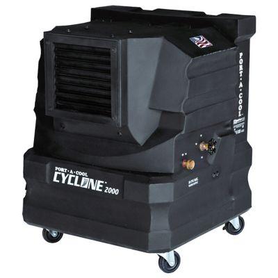 Portacool Cyclone 2000 Portable Evaporative Cooler; 2000 CFM; Black