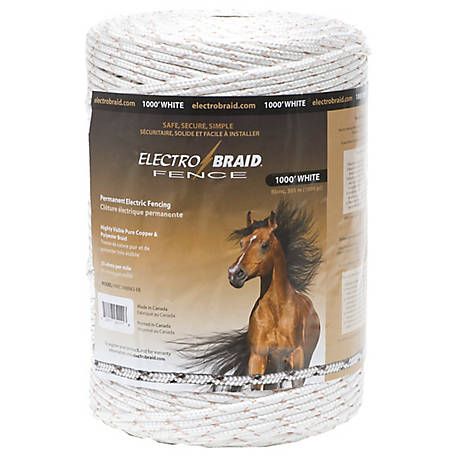 ElectroBraid 1,000 ft. Horse Fence Conductor Reel, White