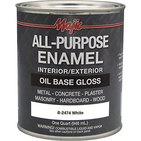 Majic All Purpose Enamel, White, 1 qt.