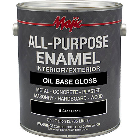 Majic All Purpose Enamel, Black, 1 gal.
