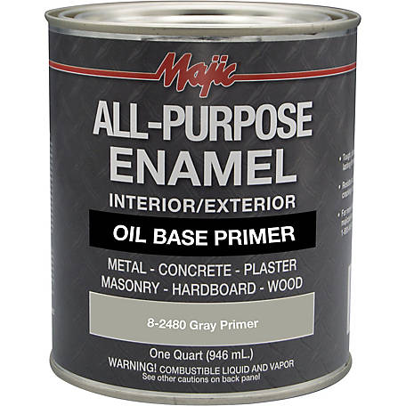 Majic All Purpose Enamel Shop Primer, Gray Primer, 1 qt.