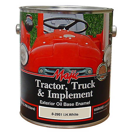 Majic Tractor, Truck & Implement Enamel, IH White, 1 gal., 8-2951-1