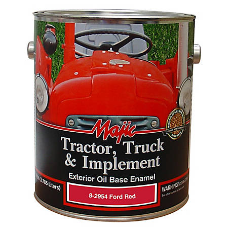 Majic Tractor, Truck & Implement Enamel, Ford Red, 1 gal., 8-2954-1