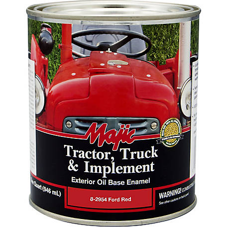 Majic Tractor, Truck & Implement Enamel, Ford Red, 1 qt.