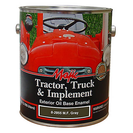 Majic Tractor, Truck & Implement Enamel, MF Gray, 1 gal., 8-2955-1