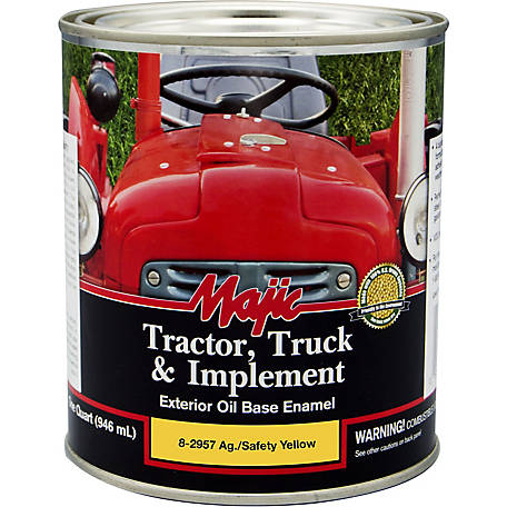 Majic Tractor, Truck & Implement Enamel, Ag Yellow, 1 qt.