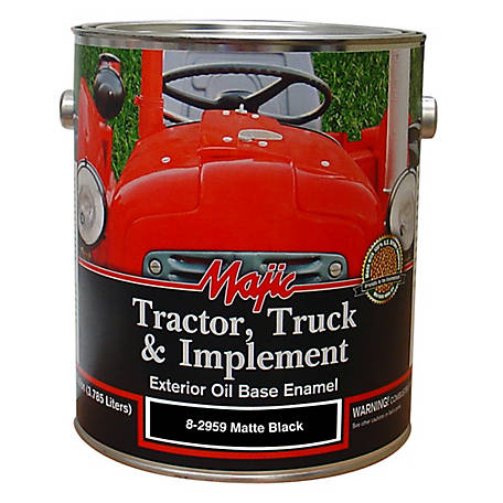 Majic Tractor Truck Implement Enamel Matte Black 1 Gal 8 2959 1 At Tractor Supply Co