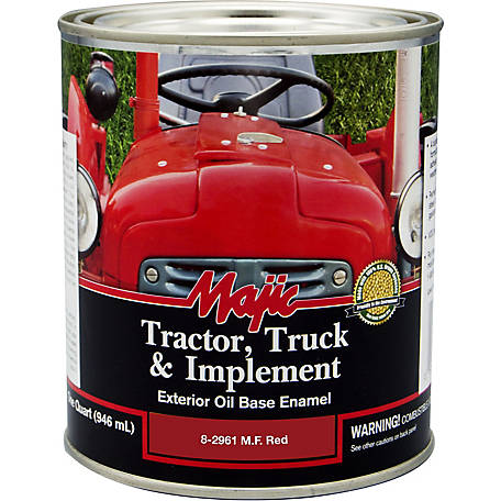 Majic Tractor, Truck & Implement Enamel, MF Red, 1 qt.