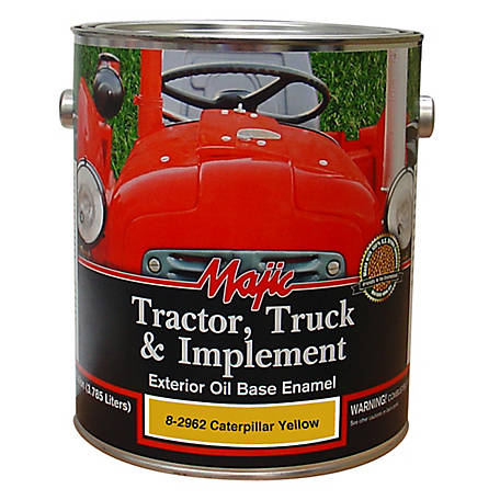 Majic Tractor, Truck & Implement Enamel, Caterpillar Yellow, 1 gal., 8-2962-1