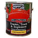 Majic Tractor, Truck & Implement Oil Base Enamel, Caterpillar Yellow, 1 gal.
