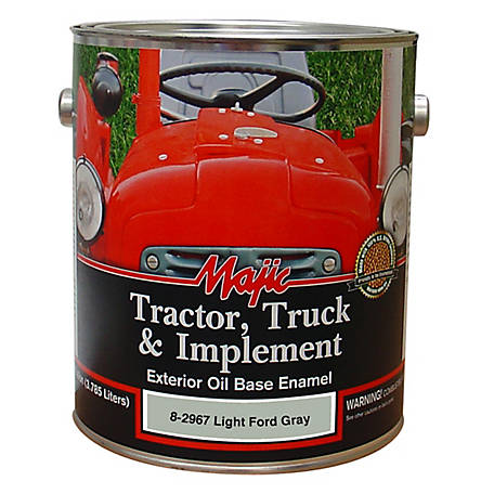 Majic Tractor, Truck & Implement Enamel, Light Ford Gray, 1 gal., 8-2967-1