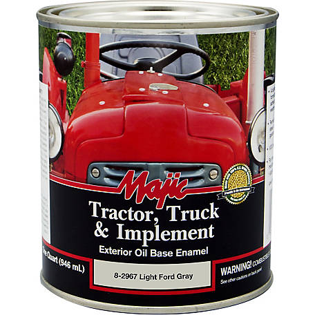 Majic Tractor, Truck & Implement Enamel, Light Ford Gray, 1 qt.