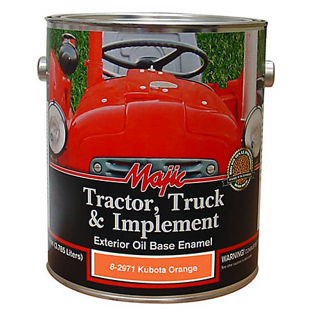 Majic Tractor, Truck & Implement Enamel, Kubota Orange, 1 gal., 8-2971-1