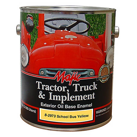 Majic Tractor, Truck & Implement Enamel, School Bus Yellow, 1 gal., 8-2973-1