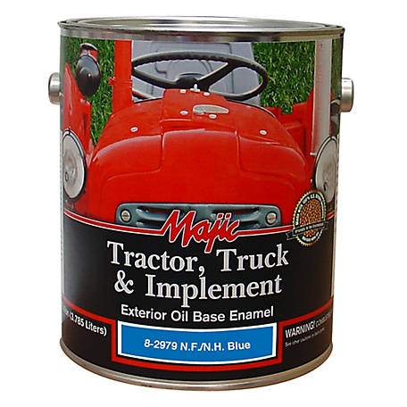 Majic Tractor, Truck & Implement Enamel, New Ford/NH Blue, 1 gal.