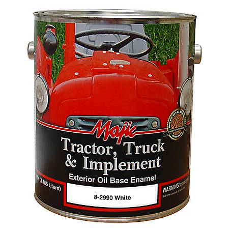 Majic Tractor, Truck & Implement Enamel, Gloss White, 1 gal., 8-2990-1