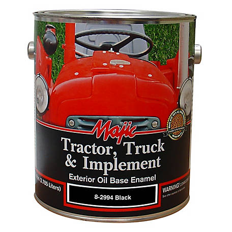 Majic Tractor, Truck & Implement Enamel, Gloss Black, 1 gal., 8-2994-1
