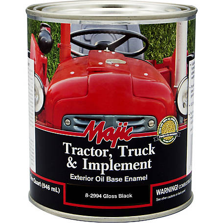 Majic Tractor, Truck & Implement Enamel, Gloss Black, 1 qt.