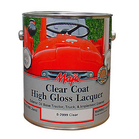 Majic Clear Coat Lacquer, Clear, 1 gal., 8-2999-1