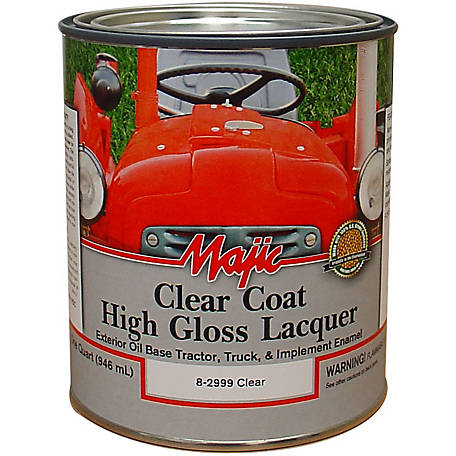 Majic Clear Coat Lacquer, Clear, 1 qt.