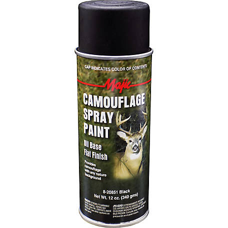 Majic Camouflage Paint, Black, Spray