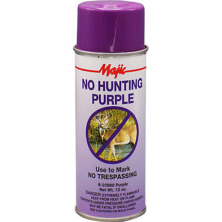 Majic No Hunting Purple Spray Paint, No Hunting Purple, Spray