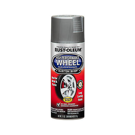 Rust-Oleum Automotive High Performance Wheel Coating, Metallic, Steel, 11 oz., 248927