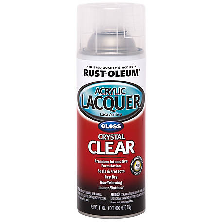 Rust-Oleum Automotive Acrylic Lacquer, Gloss, Clear, 12 oz., 253366