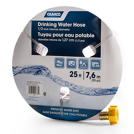 Camco TastePURE Drinking Water Hose, 1/2 in. x 25 ft., 22733