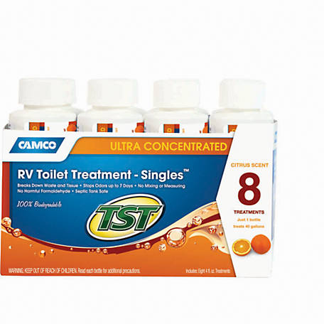 Camco TST Orange Power 4 oz. Toilet Treatment, Pack of 8