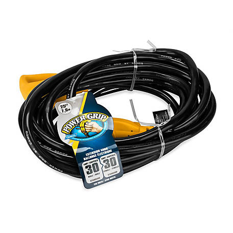 Camco 55191 25 ft. PowerGrip Electrical Power Cord with Handle
