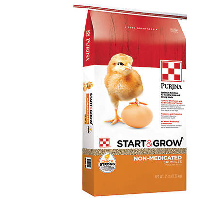 Purina Start & Grow Starter/Grower Non-Medicated Feed Crumbles, 25 lb., 3003344-303