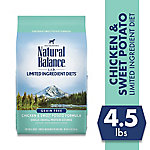 Natural Balance L.I.D. Limited Ingredient Diets Chicken & Sweet Potato Formula Dry Dog Food, 4.5 lb. Bag