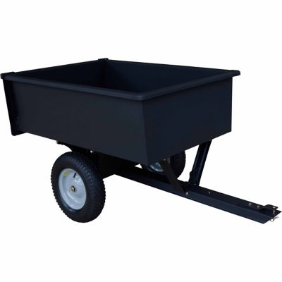 Precision 10 Cube Tow Behind Steel Dump Cart Dazzlepoint