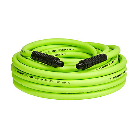 Flexzilla Air Hose, 1/2 in. x 50 ft., 3/8 in. MNPT Fittings