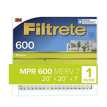 3M Filtrete Dust Reduction Filter, 20 in. x 20 in. x 1 in.
