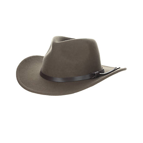 aaea47360 Dorfman Pacific Wool Felt Crushable Outback Hat at Tractor Supply Co.