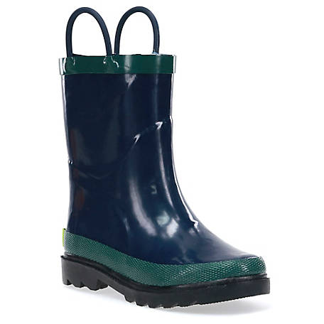Western Chief Boys' Navy Solid Rain Boots