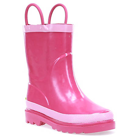 Western Chief Girls' Hot Pink Solid Rain Boots